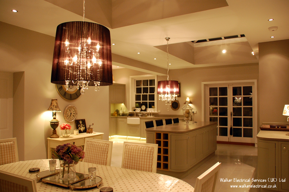 Farmhouse Kitchen Electrical, TV Distribution & Lighting Control ...